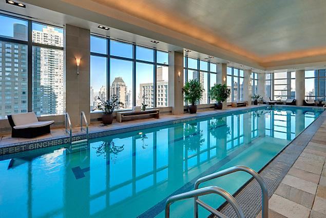 New york luxury hotel and condo pools are available to for Top luxury hotels nyc