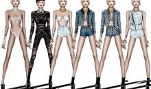 Miley will be twerking at her Bangerz Tour in exclusive Roberto Cavalli designs