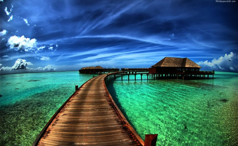 Caribbean-Beach-Landscape-Wallpaper