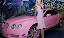 Paris Hilton brings out her inner Barbie with a pink Bentley