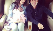 Baby Sophia Rutland takes her very first luxury flight