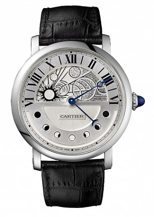 Cartier white gold Moonphase