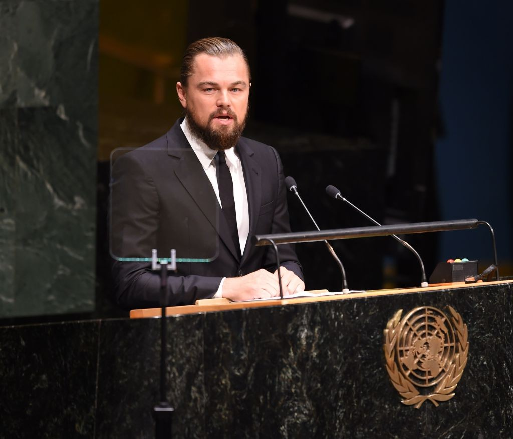 DiCaprio speaks at UN Climate Summit 2014