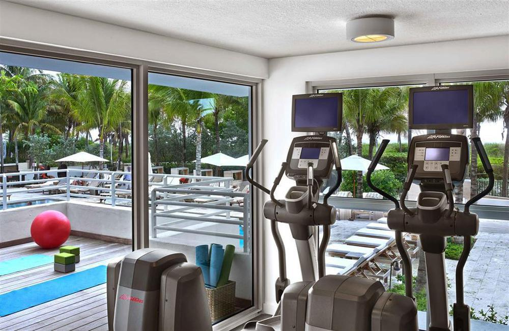 Full Gym with Poolside View