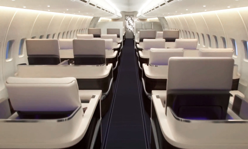The Boeing 757 was redesigned with luxury in mind